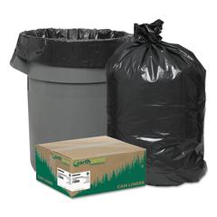 Recycled Can Liners, 40-45gal, 1.25mil, 40 x 46, Black, 100/Carton