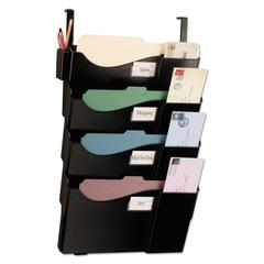 Grande Central Cubicle Filing System, Four Pockets, 16 5/8 x 5 x 27 1/2, Black