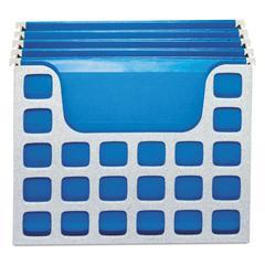 DecoFlex Desktop File w/Folders, Letter, Plastic, 12 1/4 x 6 x 9 1/2, Granite