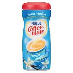 Non-Dairy Powdered Creamer, French Vanilla, 15 oz Canister, 12/Carton