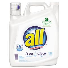 All Free Clear 2x Liquid Laundry Detergent, Unscented, 162 oz Bottle, 2/Carton