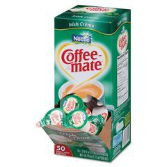 Liquid Coffee Creamer, Irish Crème, 0.375 oz Mini Cups, 50/Box, 4 Box/Carton