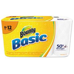 Basic Paper Towels, 5 9/10 x 11, 1-Ply, 66/Roll, 8 Roll/Pack