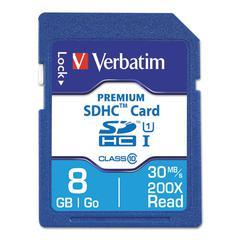 Premium SDHC Memory Card, Class 10, 8GB