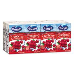 Aseptic Juice Boxes, Cranberry, 4.2oz, 40/Carton