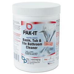 Basin, Tub and Tile Cleaner, Ocean Scent, 4 oz Packets, 20/Jar, 12 Jar/Carton