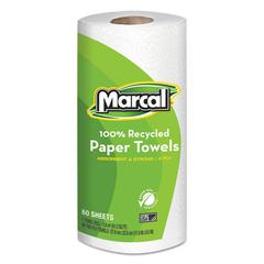 100% Recycled Roll Towels, 2-Ply, 9 x 11, 60 Sheets, 15 Rolls/Carton