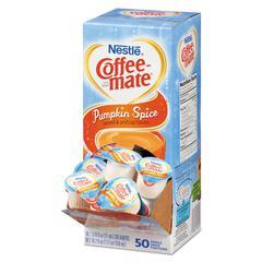 Liquid Coffee Creamer, Pumpkin Spice, 0.375 oz Mini Cups, 50/Box