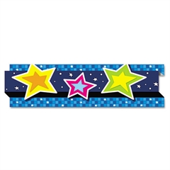 "Pop-It Border, Stars, 3"" x 24', 8 Strips/Pack"