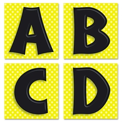 Publishing Quick Stick Letters Set, 45 Pieces, Black