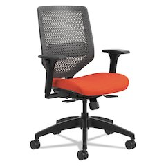 Solve Series ReActiv Back Task Chair, Bittersweet/Charcoal