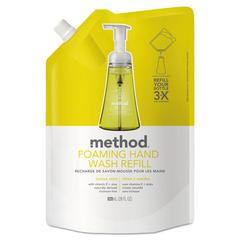 Foaming Hand Wash Refill, Lemon Mint, 28 oz Pouch, 6/Carton