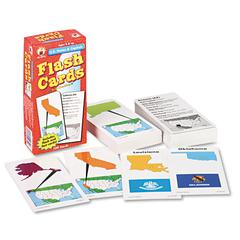 Carson-Dellosa Publishing Flash Cards, U.S. States and Capitals, 3w x 6h, 109/Pack