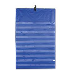 Carson-Dellosa Publishing Essential Pocket Chart, 10 Clear & 1 Storage Pocket, Grommets, Blue, 31 x 42