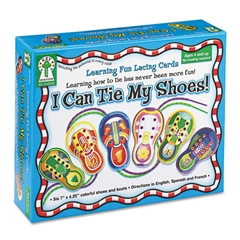 """Carson-Dellosa Publishing """"I Can Tie My Shoes!"""" Lacing Cards, Ages 4 and Up"""