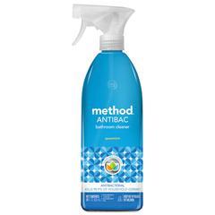 Antibacterial Spray, Bathroom, Spearmint, 28 oz Bottle, 8/Carton