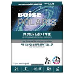 POLARIS Premium Laser Paper, 3-Hole, 97 Bright, 24lb, Letter, White. 500 Sheets