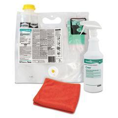 Crew Restroom Non-Acid Disinfectant Cleaner, Fresh, 0.12 L Smart Mix Pack