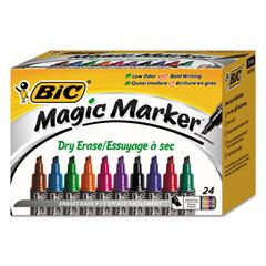 Intensity Tank-Style Advanced Dry Erase Marker, Broad Bullet Tip, Assorted,24/Pack