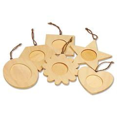 Creativity Street Wood Frame Ornaments, 36 Frames