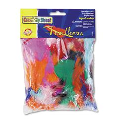 Creativity Street Bright Hues Feather Assortment, Bright Colors, 1 oz Pack
