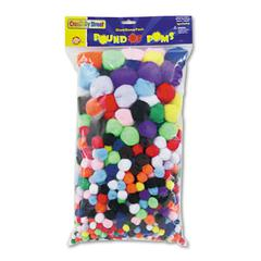 Creativity Street Pound of Poms Giant Bonus Pack, Assorted Colors, 1 lb/Pack
