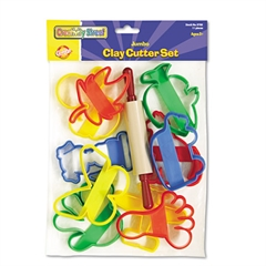 Clay Cutter Set, Rolling Pin and 10 Cutters