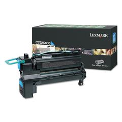 Remanufactured C792X4CG (C792) Return Program Extra High-Yield Toner, Cyan