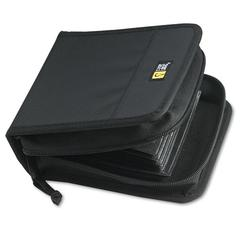 Case Logic CD/DVD Wallet, Holds 32 Discs, Black