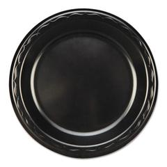 "Elite Laminated Foam Dinnerware, Plate, 7"" Dia, Black, 125/Pack, 8 Pack/Carton"
