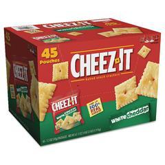 Cheez-it Crackers, 1.5 oz Bag, White Cheddar, 45/Carton