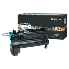 Remanufactured C792A4CG (C792) Return Program Toner, 6000 Page-Yield, Cyan