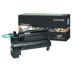 Remanufactured C792A4KG (C792) Return Program Toner, 6000 Page-Yield, Black