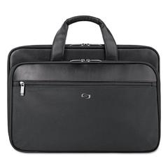 "Classic Smart Strap Briefcase, 16"", 17 1/2"" x 5 1/2"" x 12"", Black"
