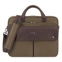 "Executive Briefcase, 15.6"", 15 7/20"" x 7 12/25"" x 12"", Khaki"