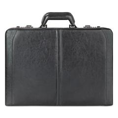 "Classic Leather Attaché, 16"", 18"" x 4 7/50"" x 13"", Black"