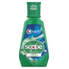 Crest + Scope Mouth Rinse, Classic Mint, 1 L Bottle, 6/Carton
