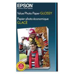Value Glossy Photo Paper, 9.1 mil, 4 x 6, White, 50 Sheets/Pack