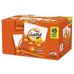 Goldfish Crackers, Cheddar, 1 oz Bag, 45/Carton