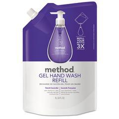 Gel Hand Wash Refill, French Lavender, 34 oz Pouch, 6/Carton