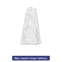 Cut-End Lie-Flat Wet Mop Head, Rayon, 16oz, White