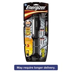 Hard Case Work Flashlight w/4 AA Batteries, Black