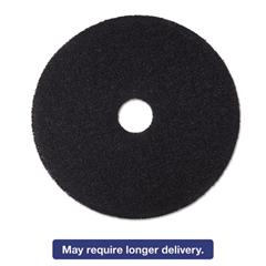 "Low-Speed Stripper Floor Pad 7200, 19"" Diameter, Black, 5/Carton"