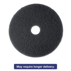 "High Productivity Floor Pad 7300, 13"" Diameter, Black, 5/Carton"
