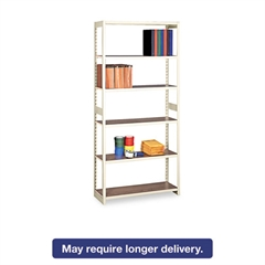 Regal Shelving Starter Set, Six-Shelf, 36w x 15d x 76h, Sand