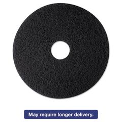"High Productivity Floor Pad 7300, 12"" Diameter, Black, 5/Carton"