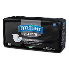 Medline FitRight Active Male Guards, 6 x 11, White, 52/Pack, 4 Pack/Carton