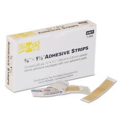 """SmartCompliance Plastic Bandage, 3/8"""" x 1 1/2"""", 80/Box"""