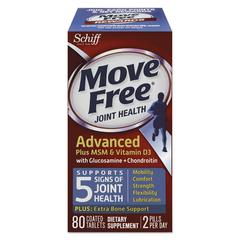 Move Free Advanced Plus MSM & Vitamin D3 Joint Health Tablet, 80 Count