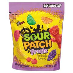 Fruits Chewy Candy, Assorted Fruit Flavor, 10 oz Bag, 12/Carton